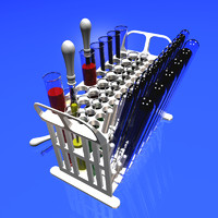 lab test tube 3d model