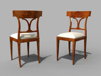 bernhardt directoire chair 3d model