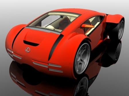 lexus cs 2054 concept 3d model