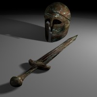 greek sword helmet max