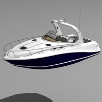 3d model sea sundancer motor boat