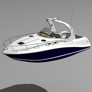 3d model sea sundancer motor boat
