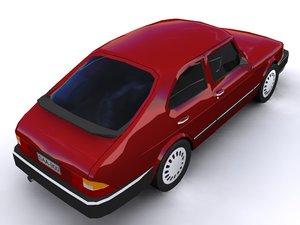 3ds max saab 900 combi car