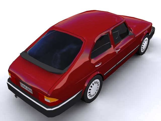 3ds max saab 900 combi car