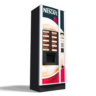 3ds max coffee vending machine