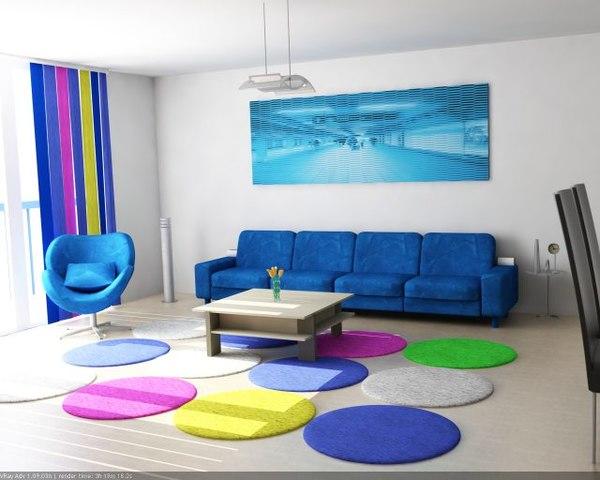 living room 7 exotic 3d model