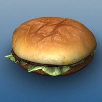 maya burger photorealictic cutlet