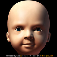 infant head 3d 3ds