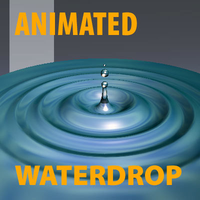 drop water waterdrop 3d model