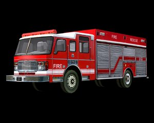 heavy rescue truck 3d 3ds