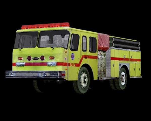 pump truck 3d 3ds
