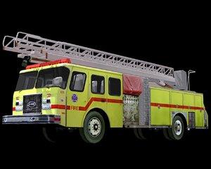 ladder truck 3d 3ds