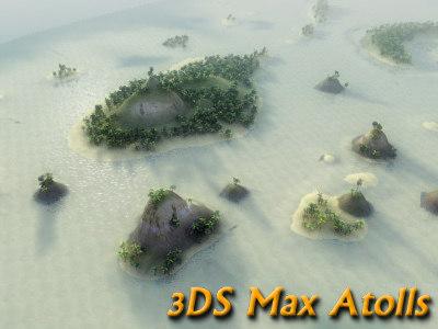 tropical island atoll 3d max