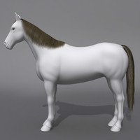 3d horse animals lightwave model