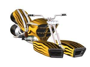 harley jet-bike 3d max