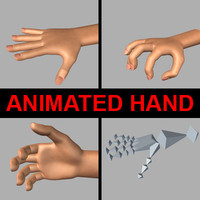 3d realistic human hand animation model
