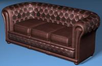chesterfield divan 3d model