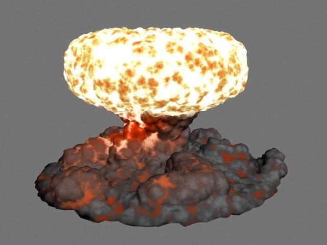 explosion cloud 3d model