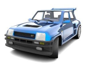 renault 5 turbo 7 3d model