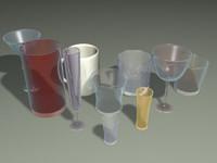 3d drink glass