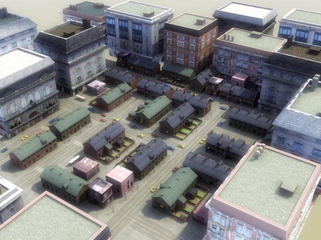 3d model modular city rt