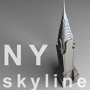 3d chrysler building model