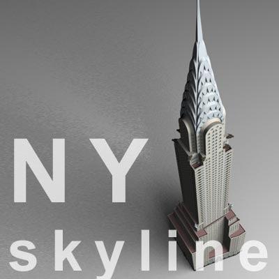 3d chrysler building model