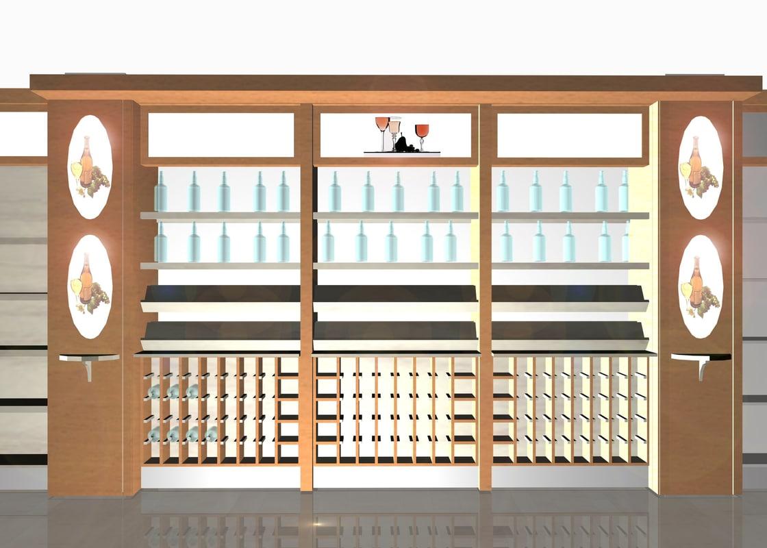 3d model winewall unit