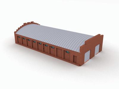 building hanger hangar 3d model