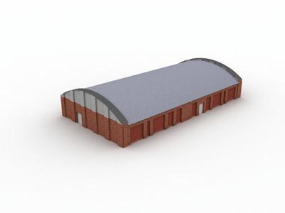 hanger hangar building 3d model