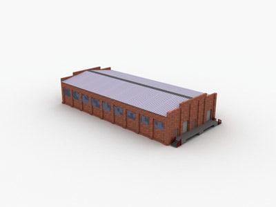 hangar hanger building 3d max