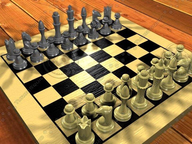 3d model complete chess set