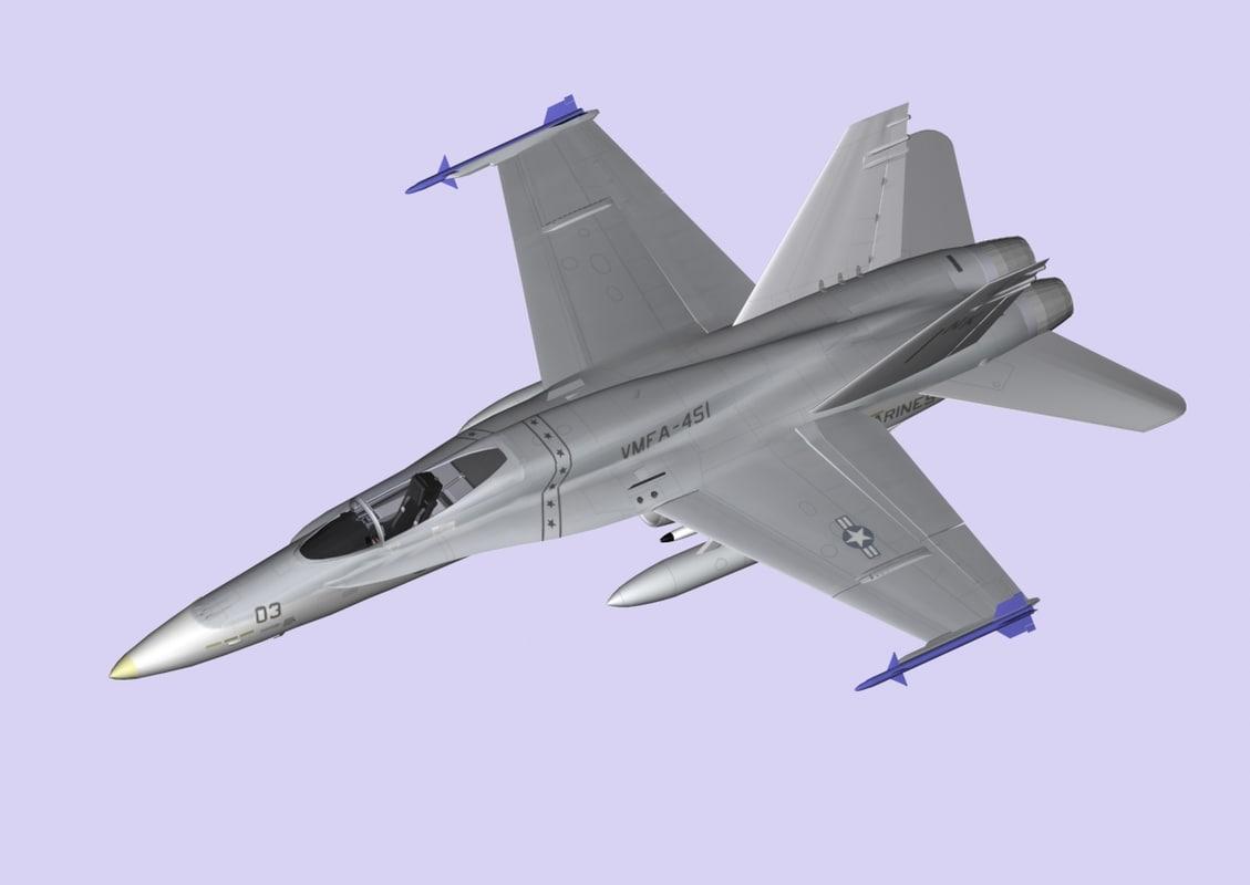 f a-18 hornet 3d x