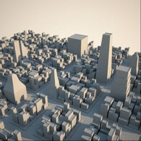 3d model cityscape metroplex buildings skyscrapers
