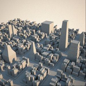 3d model cityscape metroplex buildings skyscrapers