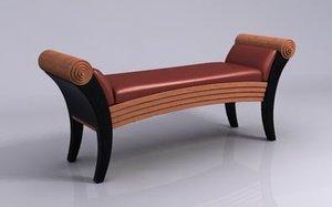 sofa settee 3d model