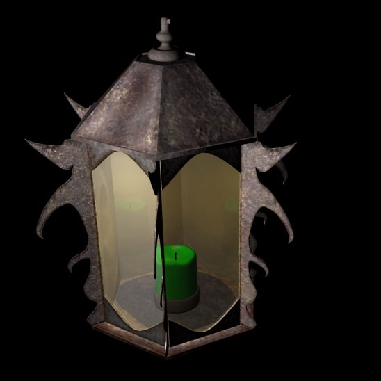 max lantern rustic rust