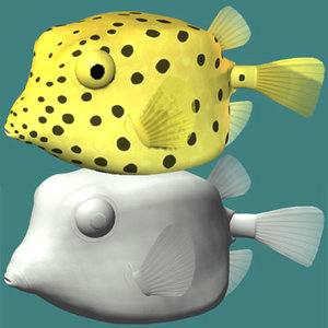 yellow boxfish 3d 3ds