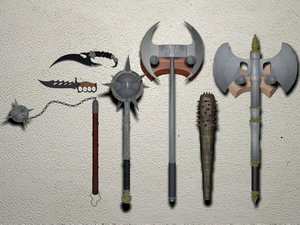 weapons flail knuckle dagger x