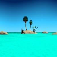 3d desert island