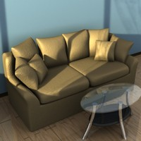 3d couch coffee table model