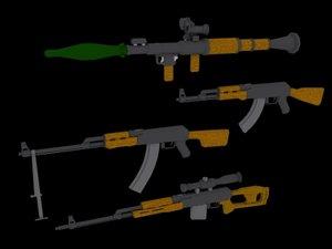 weapons insurgants 3d model