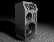 free c4d model speaker