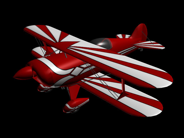 3d pitts plane