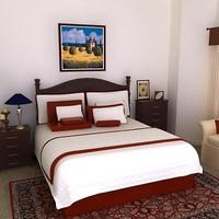 3d bed frame model