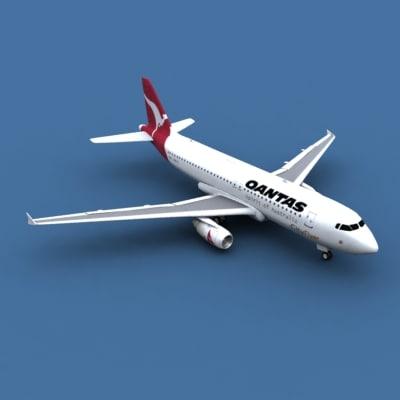 3d airbus a320 qantas