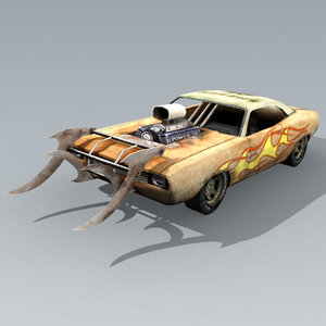 free dragster car 3d model