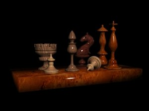 new chess figures 3d max