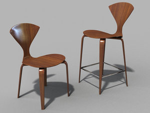 dwr cherner chair 3d model