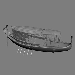 boat egyptian 3d 3ds
